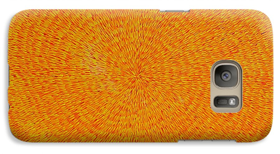 Abstract Galaxy S7 Case featuring the painting Su Gaia by Dean Triolo