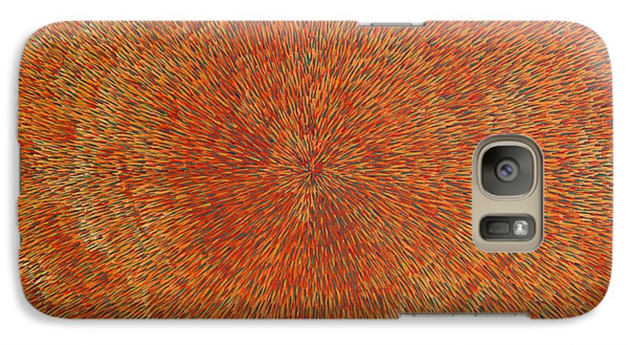Abstract Galaxy S7 Case featuring the painting Su Gaia Earth by Dean Triolo