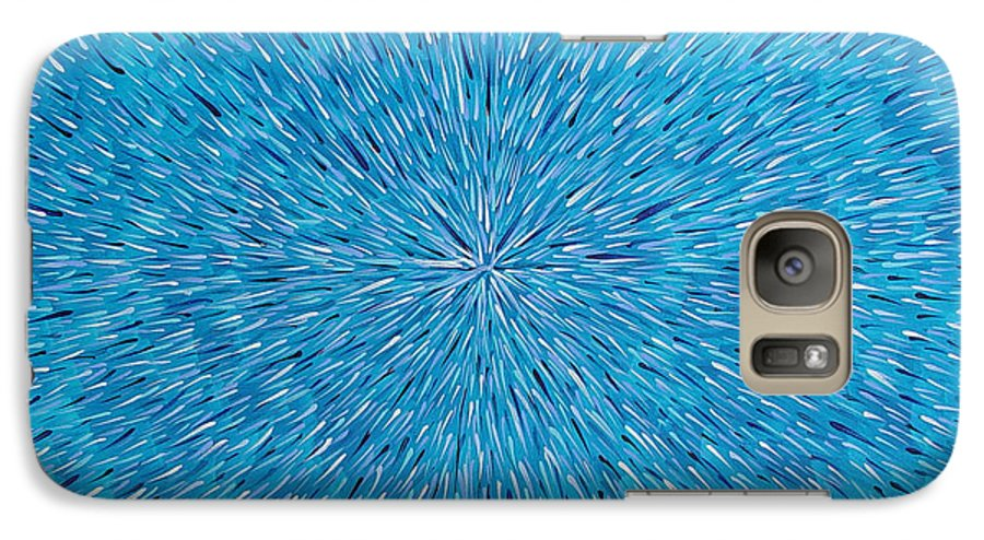 Abstract Galaxy S7 Case featuring the painting Su Gaia Rain by Dean Triolo