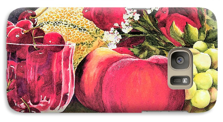 Cherries Galaxy S7 Case featuring the painting Summer Bounty by Karen Stark