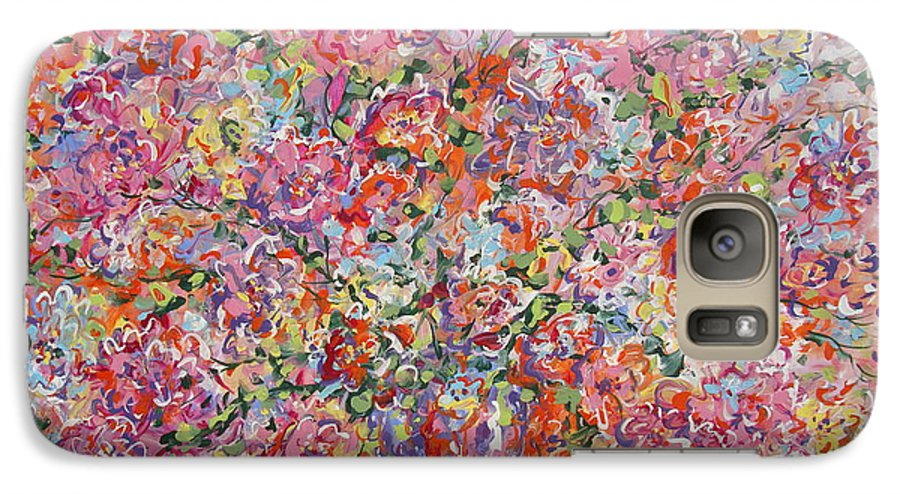 Painting Galaxy S7 Case featuring the painting Summer Flowers by Leonard Holland