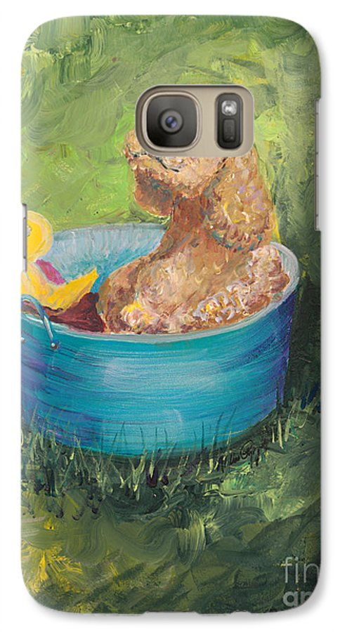 Dog Galaxy S7 Case featuring the painting Summer Fun by Nadine Rippelmeyer