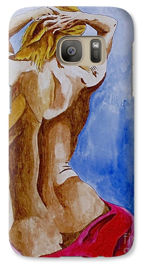 Nude By Herschel Fall Very Hot Nude Galaxy S7 Case featuring the painting Summer Morning by Herschel Fall