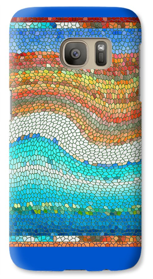 Colorful Galaxy S7 Case featuring the digital art Summer Mosaic by Melissa A Benson