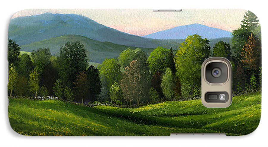 Landscape Galaxy S7 Case featuring the painting Summers Ending by Frank Wilson
