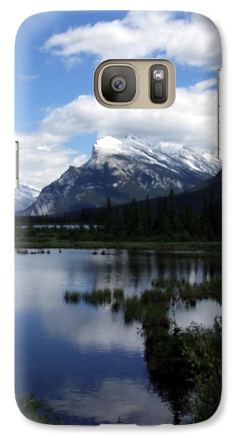 Landscape Galaxy S7 Case featuring the photograph Summertime In Vermillion Lakes by Tiffany Vest