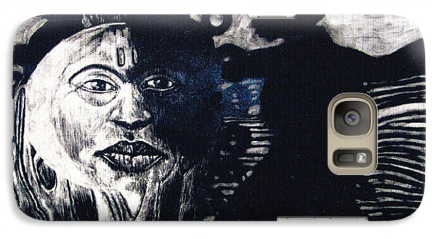 Galaxy S7 Case featuring the mixed media Sun Dance by Chester Elmore