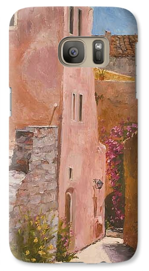 Urban Galaxy S7 Case featuring the painting Sun Drenched by Kit Hevron Mahoney