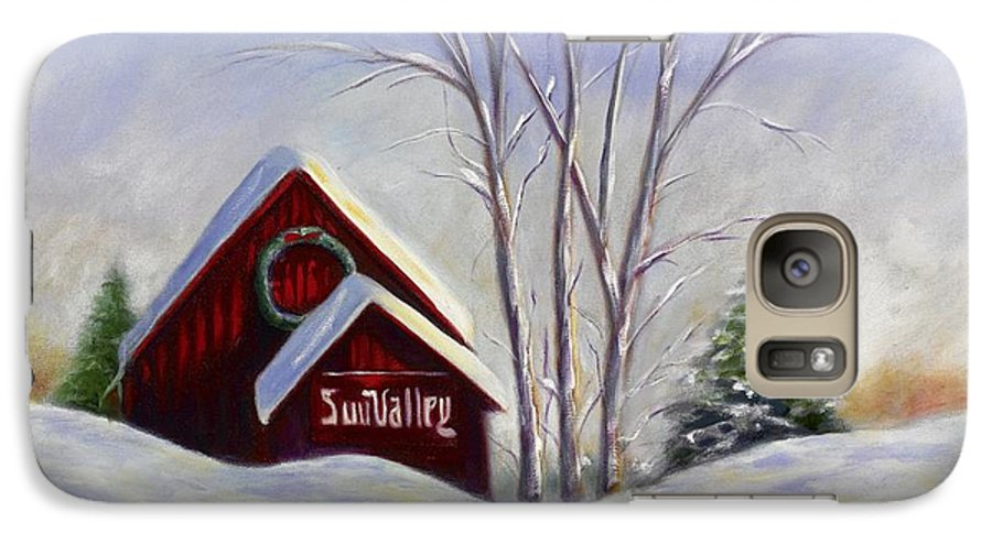Landscape White Galaxy S7 Case featuring the painting Sun Valley 1 by Shannon Grissom