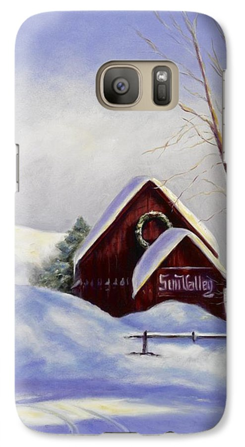 Landscape Galaxy S7 Case featuring the painting Sun Valley 2 by Shannon Grissom