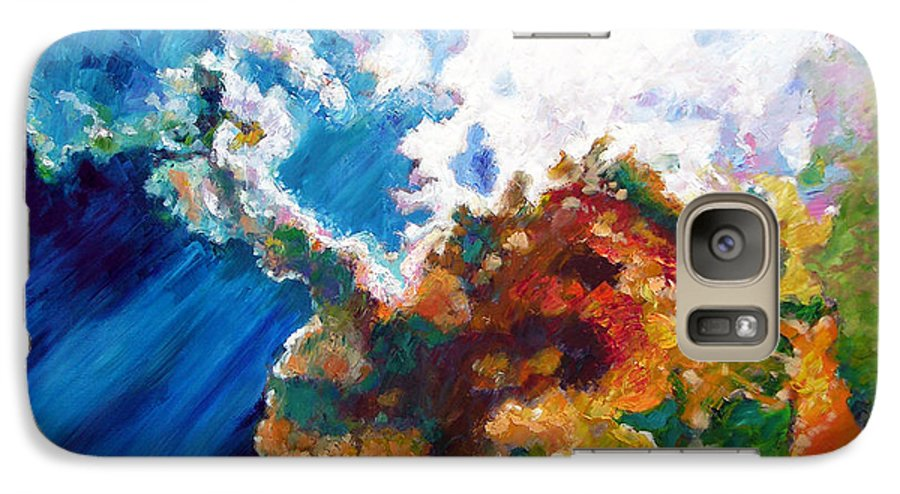 Sunburst Galaxy S7 Case featuring the painting Sunburst by John Lautermilch