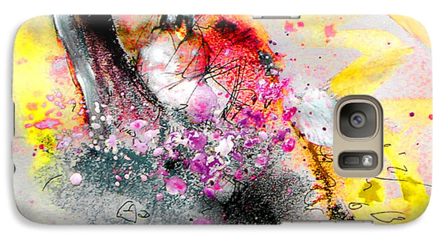 Pastel Painting Galaxy S7 Case featuring the painting Sunday By The Tree by Miki De Goodaboom