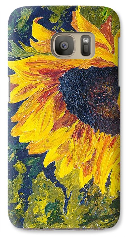 Galaxy S7 Case featuring the painting Sunflower by Tami Booher
