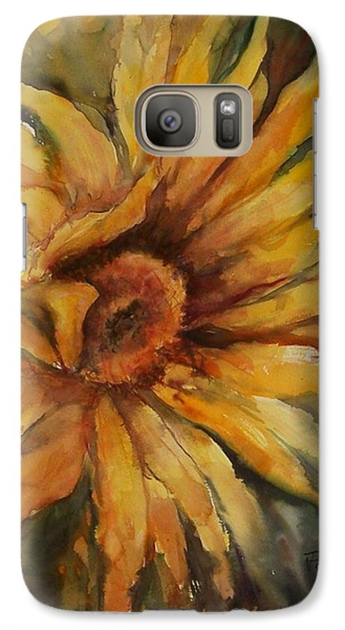 Sunflower Galaxy S7 Case featuring the painting Sunflower by Virginia Potter