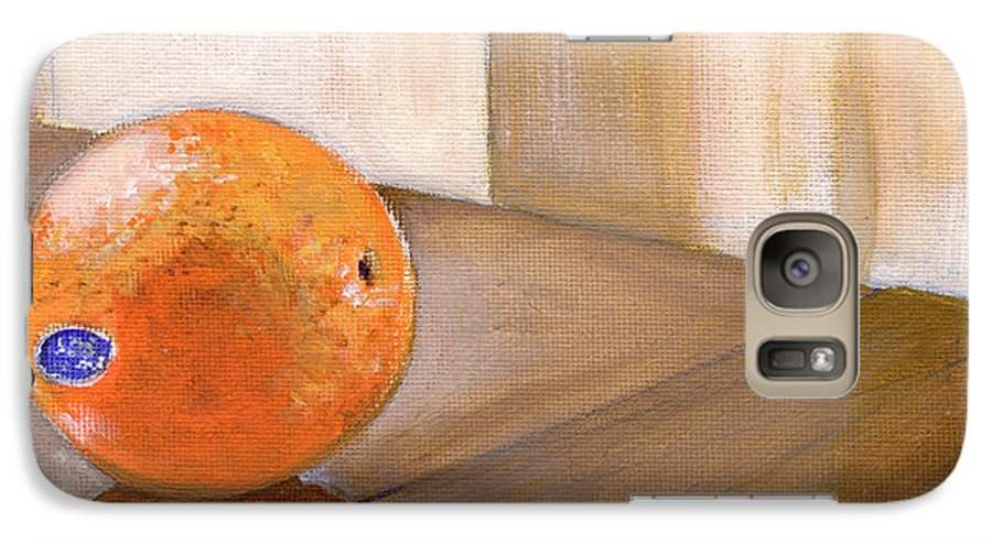 Food Galaxy S7 Case featuring the painting Sunkist by Sarah Lynch