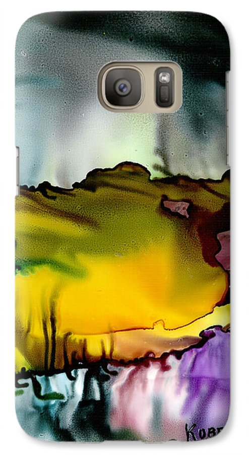 Abstract Galaxy S7 Case featuring the mixed media Sunless Sea by Susan Kubes