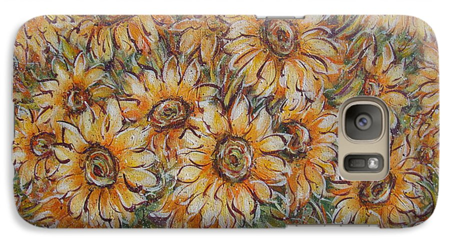 Flowers Galaxy S7 Case featuring the painting Sunlight Bouquet. by Natalie Holland