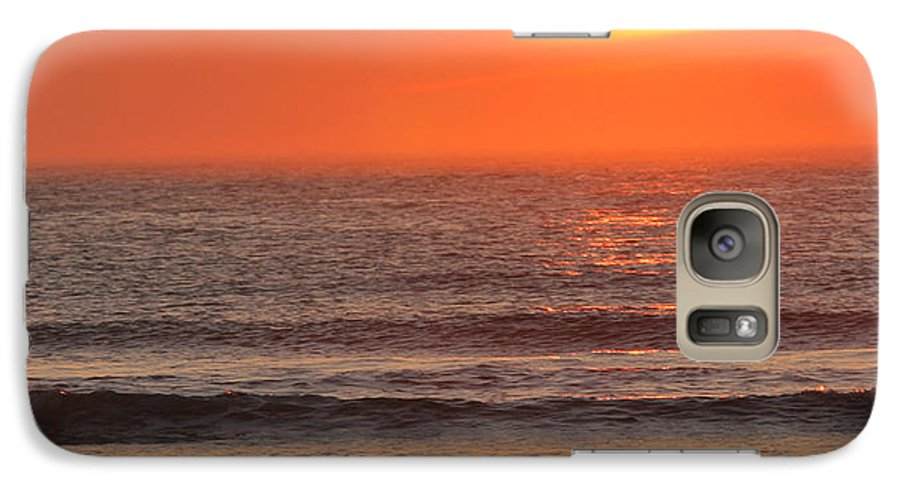 Ocean Galaxy S7 Case featuring the photograph Sunrise On The Oceanside by Max Allen