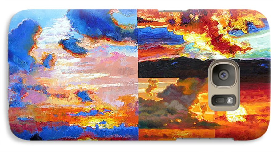 Sunrise Galaxy S7 Case featuring the painting Sunrise Sunset Sunrise by John Lautermilch