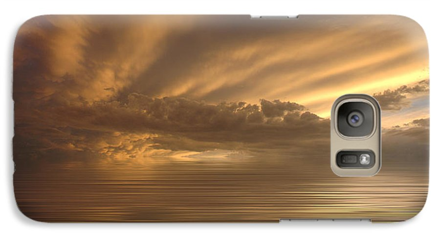 Sunset Galaxy S7 Case featuring the photograph Sunset At Sea by Jerry McElroy
