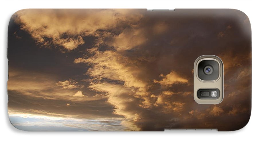 Sunset Galaxy S7 Case featuring the photograph Sunset At The New Mexico State Capital by Rob Hans