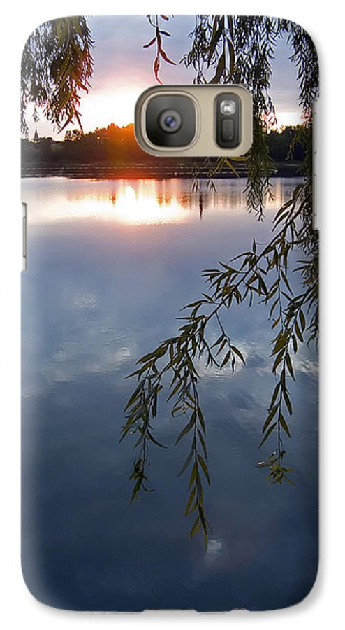 Nature Galaxy S7 Case featuring the photograph Sunset by Daniel Csoka
