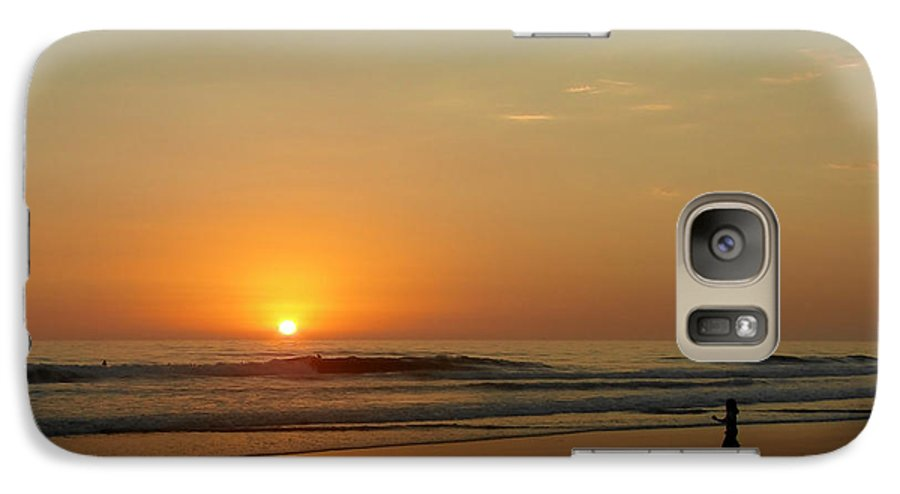 Pacific Galaxy S7 Case featuring the photograph Sunset Over La Jolla Shores by Christine Till