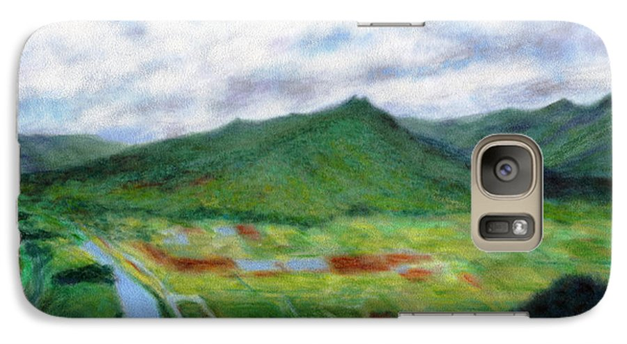 Rainbow Colors Pastel Galaxy S7 Case featuring the painting Sunspot by Kenneth Grzesik