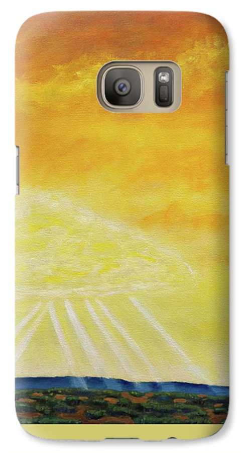 Landscape Galaxy S7 Case featuring the painting Super Seven by Brian Commerford