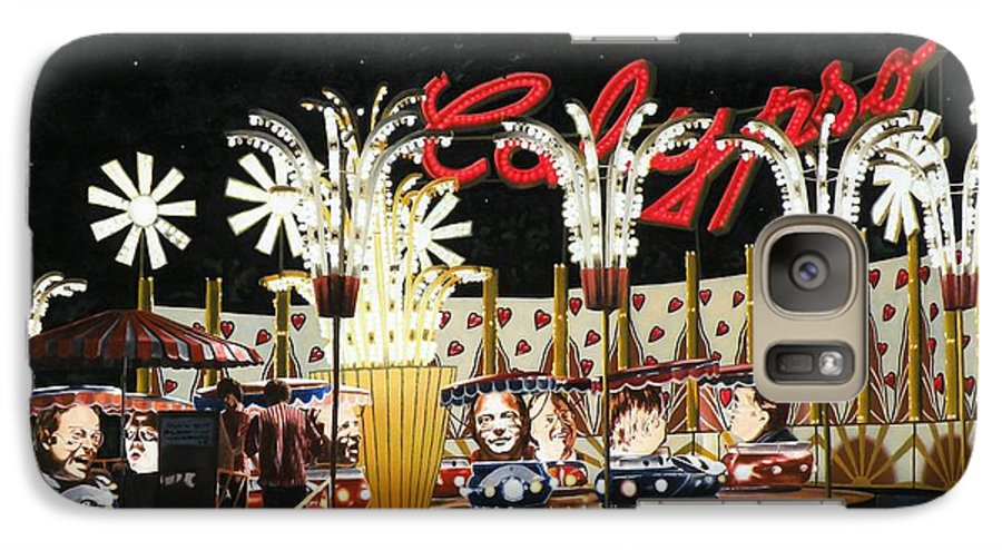 Surreal Galaxy S7 Case featuring the painting Surreal Carnival by Dave Martsolf