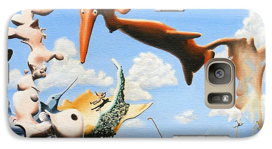 Surreal Galaxy S7 Case featuring the painting Surreal Friends by Dave Martsolf