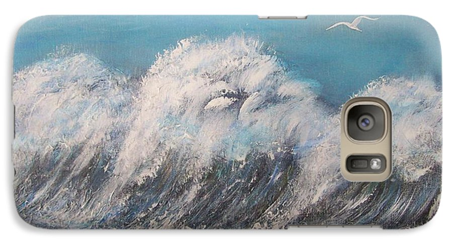 Surreal Tsunami Galaxy S7 Case featuring the painting Surreal Tsunami by Tony Rodriguez