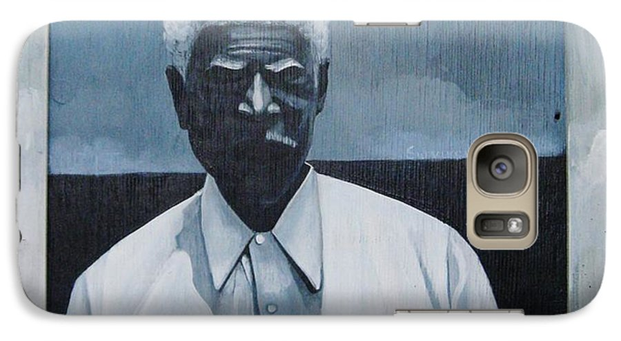 Man Galaxy S7 Case featuring the painting Survivor James by Joyce Owens