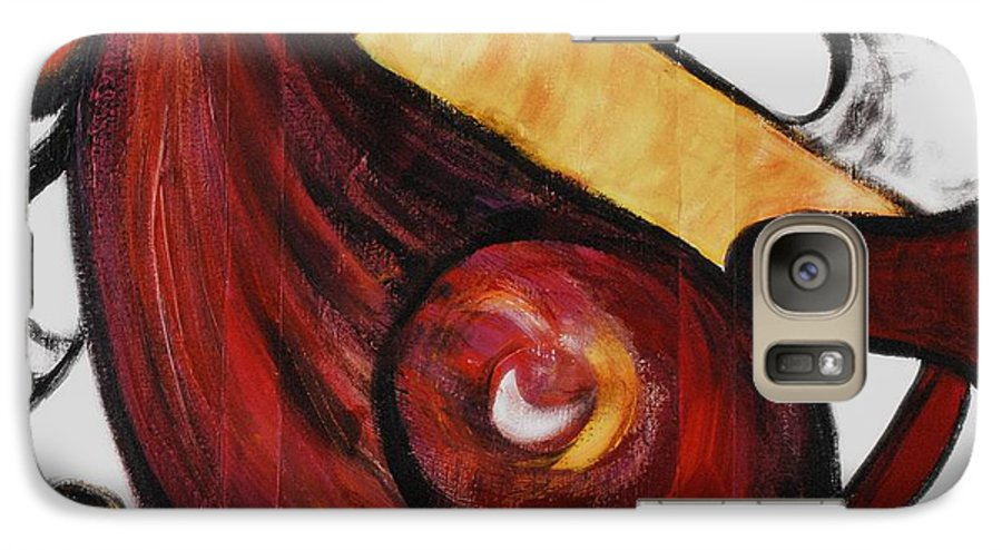 Survivor Galaxy S7 Case featuring the painting Survivor by Nadine Rippelmeyer