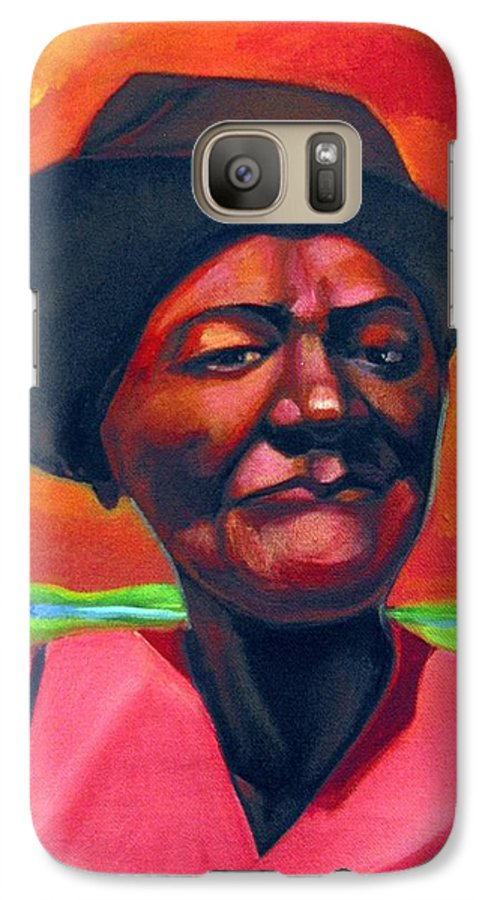 African Galaxy S7 Case featuring the painting Survivor Spirit Mollie by Joyce Owens