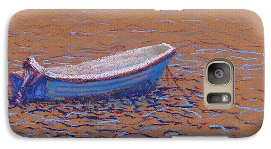 Boat Galaxy S7 Case featuring the pastel Swedish Boat by Art Nomad Sandra Hansen