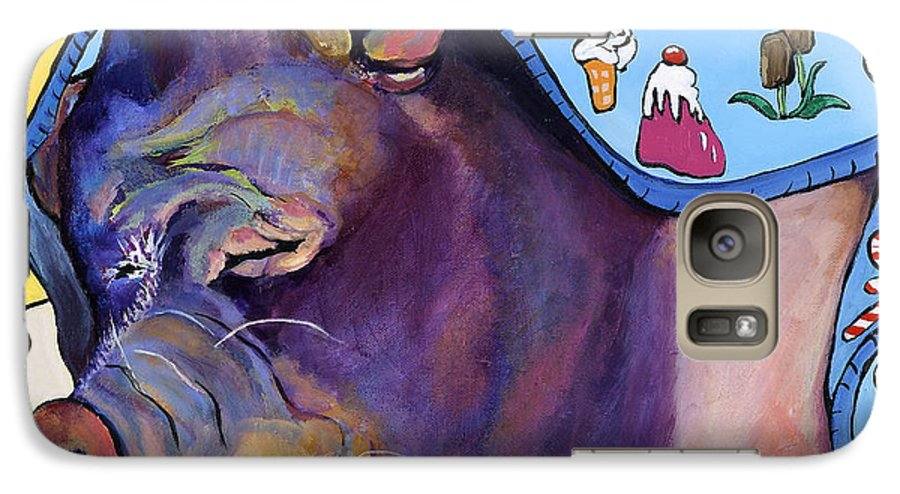 Farm Animal Galaxy S7 Case featuring the painting Sweet Dreams by Pat Saunders-White