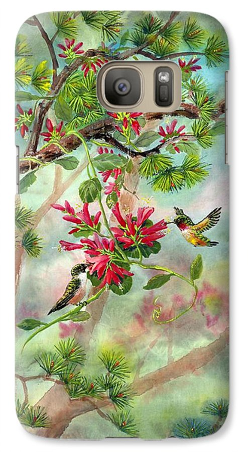 Hummingbirds Galaxy S7 Case featuring the painting Sweet Journey by Eileen Fong