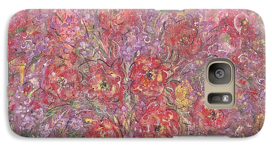 Still Life Galaxy S7 Case featuring the painting Sweet Memories by Natalie Holland