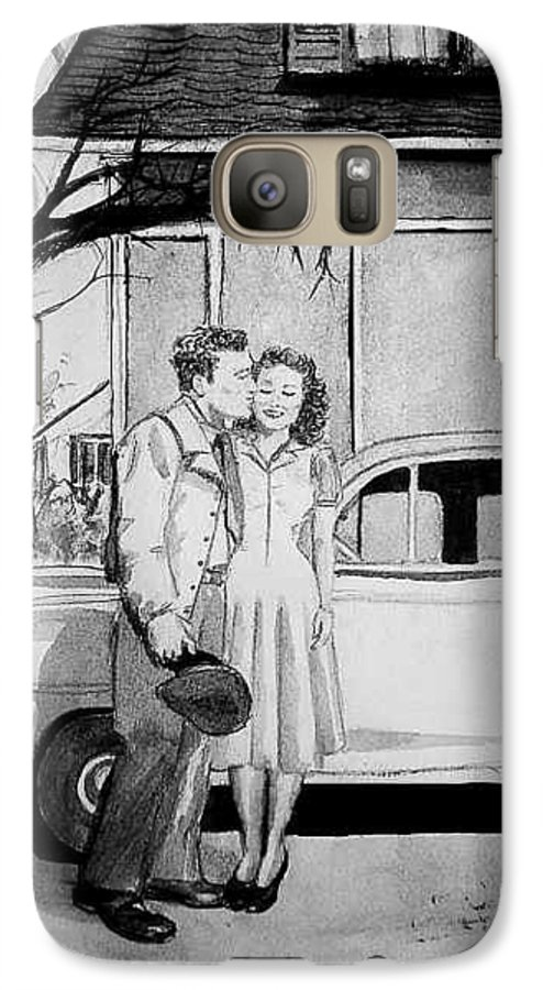 Couple Galaxy S7 Case featuring the painting Sweet Memory by Laura Rispoli