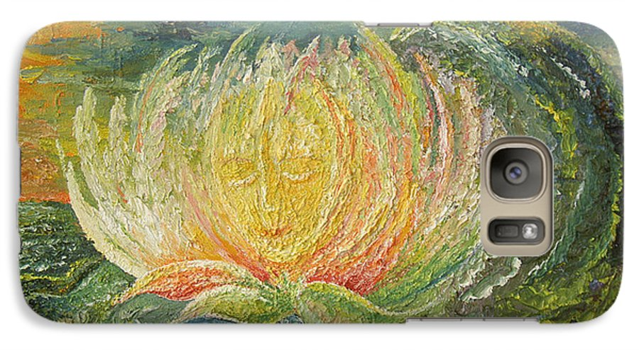 Flower Galaxy S7 Case featuring the painting Sweet Morning Dream by Karina Ishkhanova