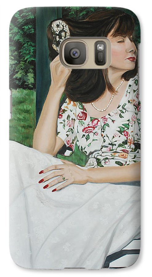 Garden Galaxy S7 Case featuring the painting Sweet Spring Day by Margaret Fortunato