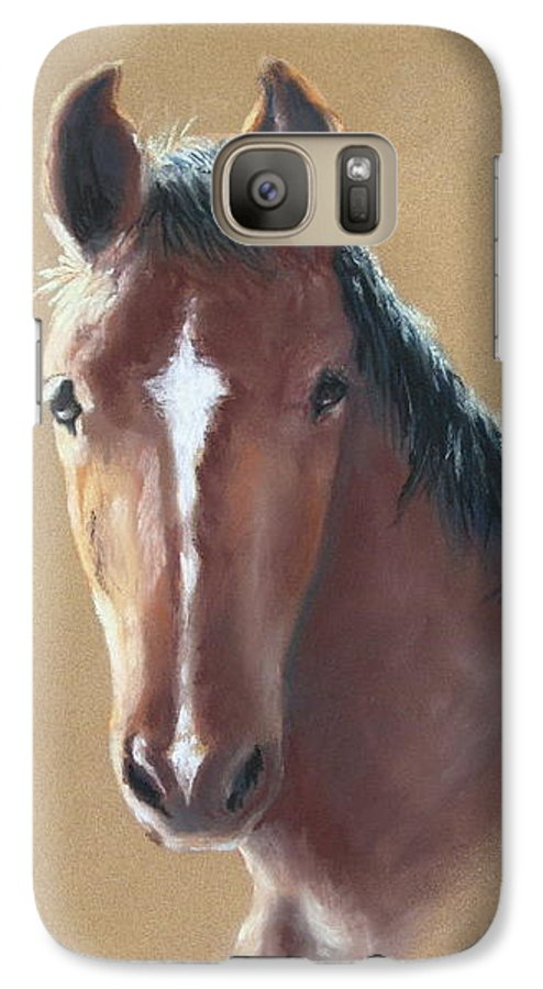 Horse Galaxy S7 Case featuring the painting Sweetie by Carol Mueller