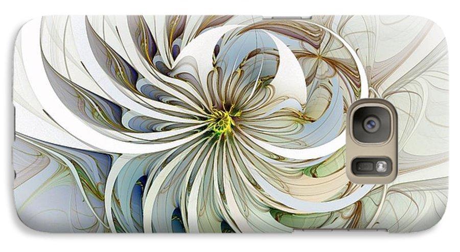 Digital Art Galaxy S7 Case featuring the digital art Swirling Petals by Amanda Moore