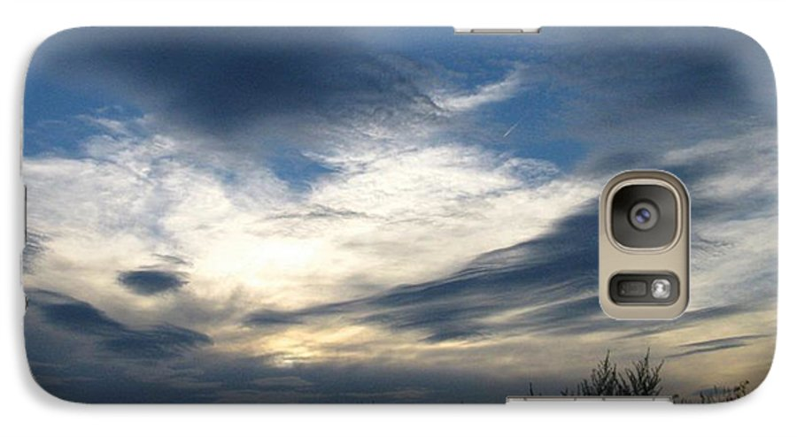 Sky Galaxy S7 Case featuring the photograph Swirling Skies by Rhonda Barrett
