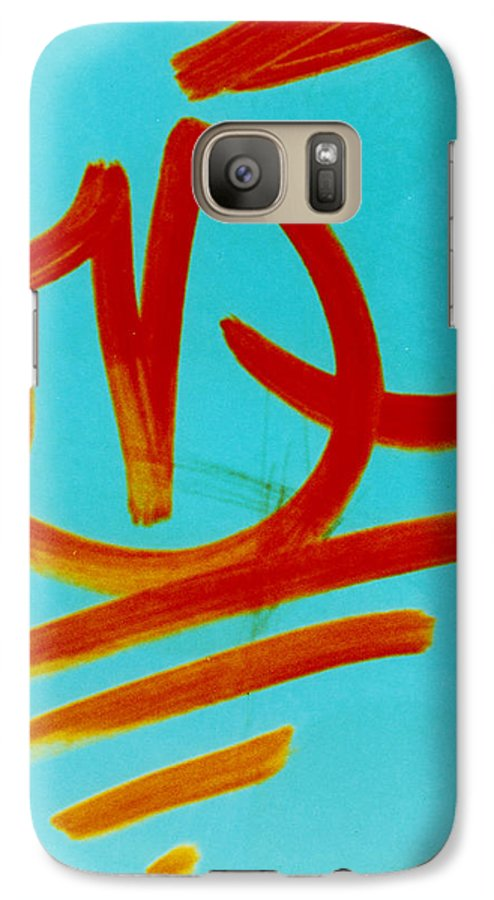Abstract Galaxy S7 Case featuring the photograph Symbols by David Rivas