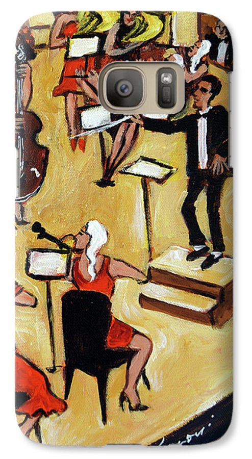Carnegie Hall Orchestra Galaxy S7 Case featuring the painting Symphony by Valerie Vescovi