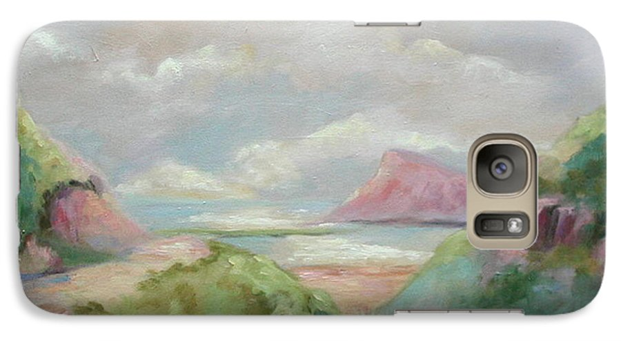 Seascape Galaxy S7 Case featuring the painting Taiwan Inlet by Ginger Concepcion
