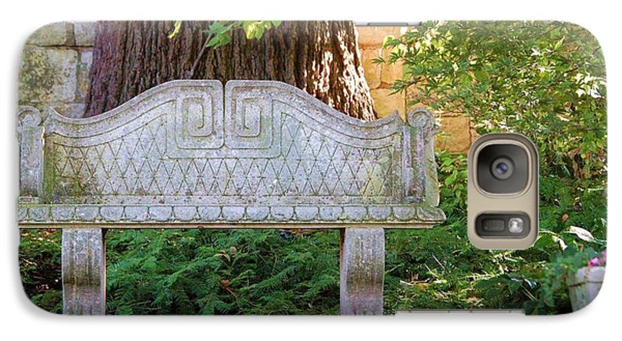 Bench Galaxy S7 Case featuring the photograph Take A Break by Debbi Granruth
