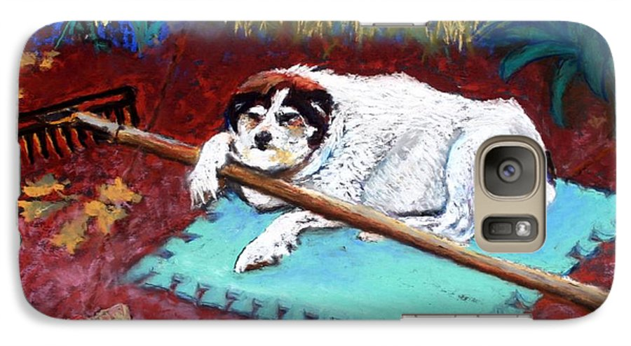 Dog Galaxy S7 Case featuring the painting Take A Break by Minaz Jantz